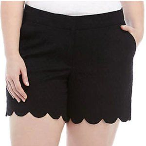 Black scallop crown and ivy shelby shorts